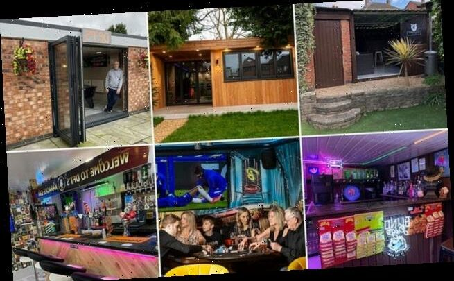 Families resort to building pubs in their homes and gardens