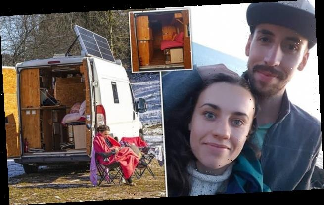 Woman ditches carer job in UK to live off-grid in converted mini van