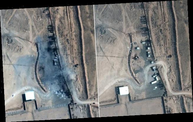 Satellite images reveal damage caused by Biden's first air strike