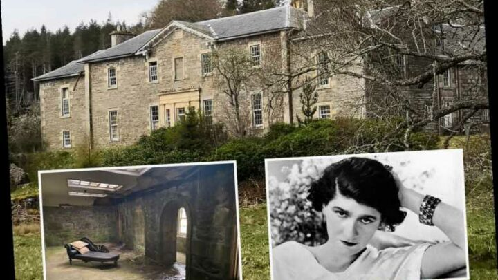 Inside Coco Chanel's abandoned, decaying Scottish highlands mansion full of ornate furniture and cast iron fireplaces