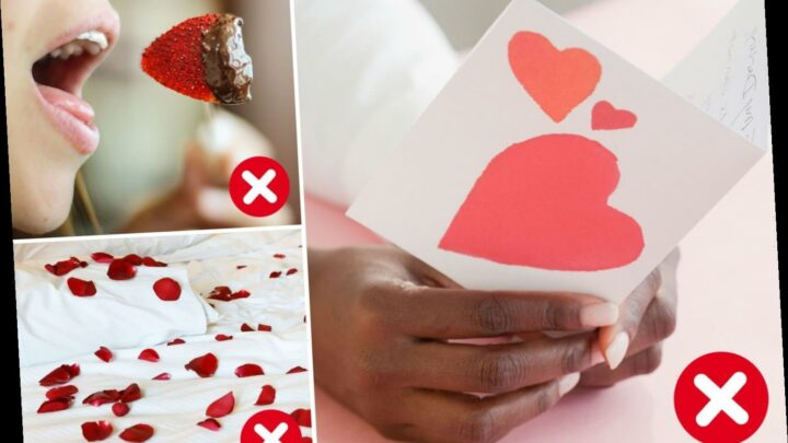 The 'tackiest' things Brits do on Valentine's Day revealed by etiquette expert, including rose petals and gushy cards