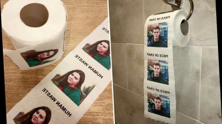 You can now get toilet paper with your ex's FACE printed on it & it's the perfect 'Galentines' Day present
