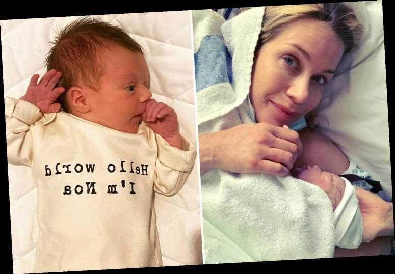Kate Lawler shares adorable new photos of newborn Noa as she thanks NHS staff for 'breastfeeding coaching'