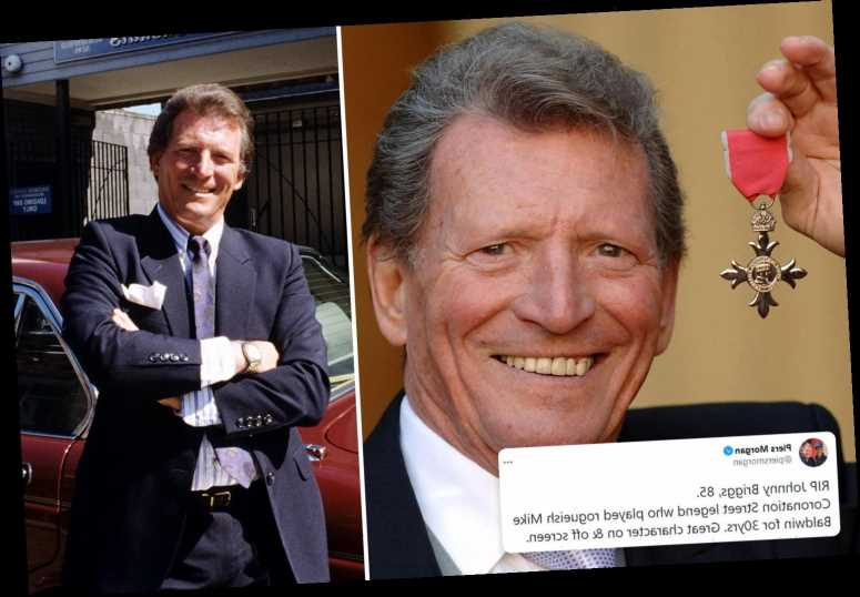 Johnny Briggs: Piers Morgan and Samia Longchambon lead the tributes to Coronation Street legend as actor dies age 85