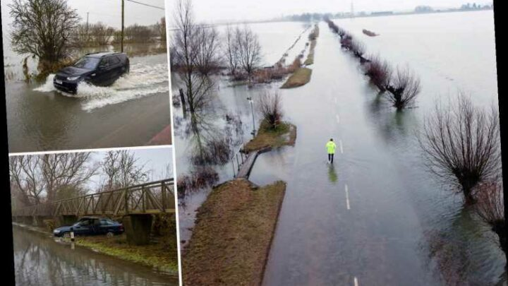 Flood warnings across UK as temperatures to rocket to 13C TODAY with melting snow and torrential rain