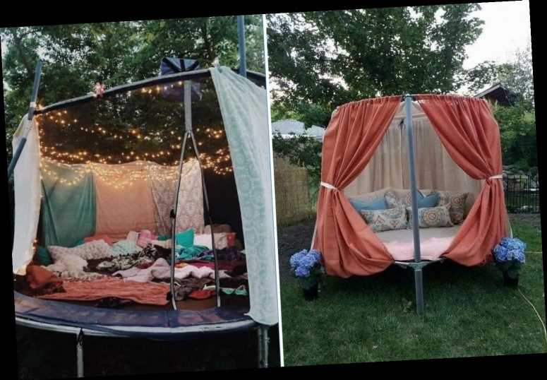 Parents are transforming their old trampolines into comfy summer dens – and they look amazing