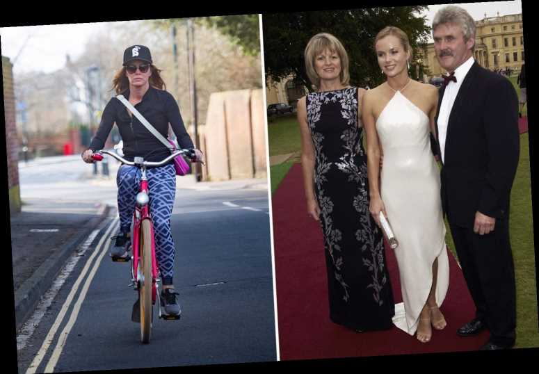 Amanda Holden spotted for the first time since lockdown break on a bike ride