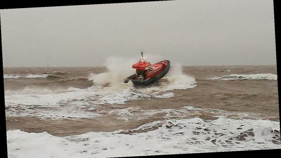 Covidiot couple spark huge air-sea rescue effort after driving 150 miles from London to wander along storm-lashed beach