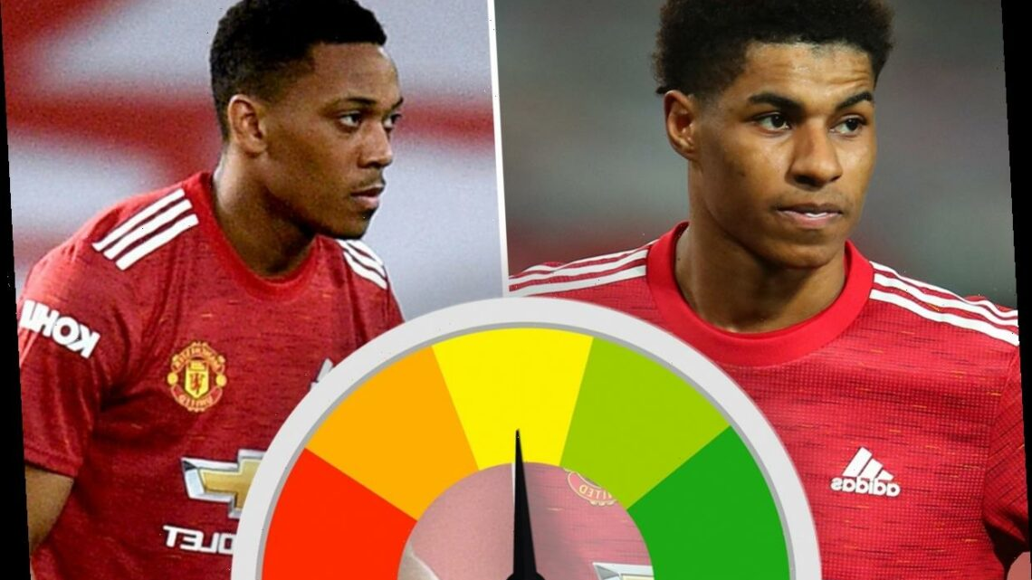 Man Utd player ratings: Rashford star of the show as Dan James nets for second game running but Martial flops up front