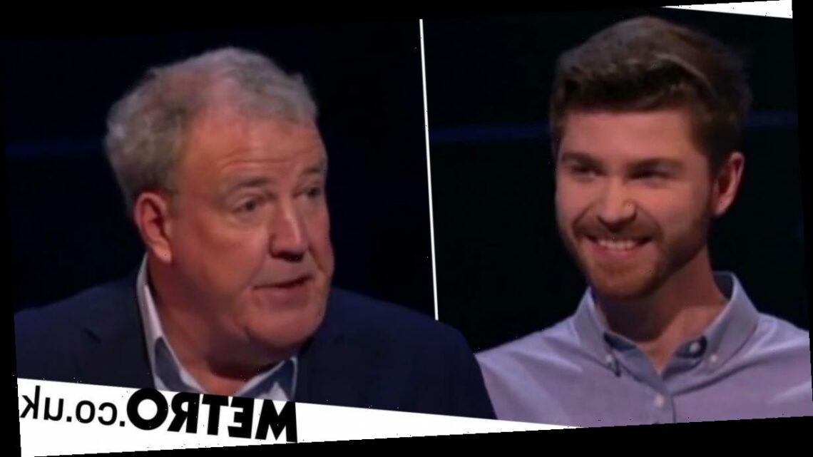 Jeremy Clarkson's savage goodbye to a Who Wants To Be A Millionaire? contestant