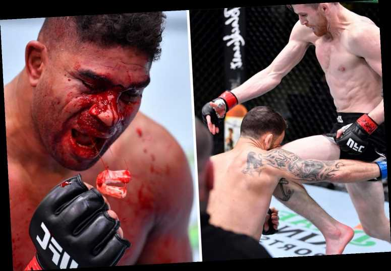 UFC legends Alistair Overeem and Frankie Edgar's futures in doubt after six-month bans following brutal KO losses