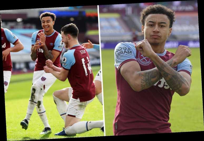 Jesse Lingard celebrates West Ham goal TWICE after VAR check as he heaps more misery on ex-boss Jose Mourinho