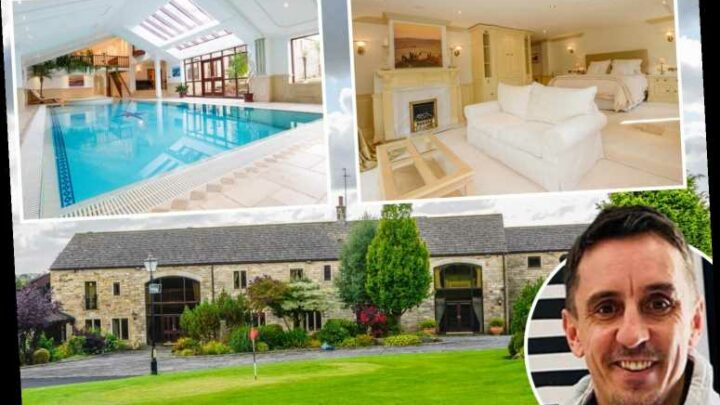 Inside Man Utd legend Gary Neville's amazing former £3m mansion with tennis court, golf course, and David Beckham Suite