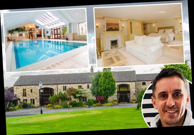Inside Man Utd legend Gary Neville's amazing former £3m mansion with tennis court, golf course, and David Beckham Suite