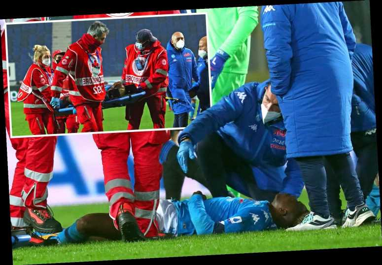 Napoli striker Victor Osimhen rushed to hospital after being knocked UNCONSCIOUS in sickening fall during Atalanta loss