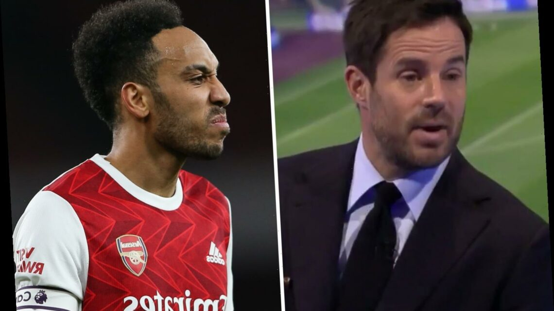 Arsenal captain Aubameyang has 'lost his superpower' and 'past his best', slams Jamie Redknapp after loss to Man City