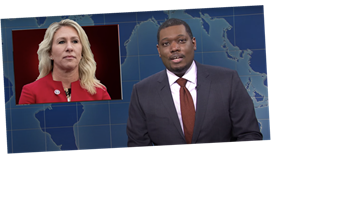 'SNL': 'Weekend Update' Skewers Marjorie Taylor Greene, Trump, and More — Watch