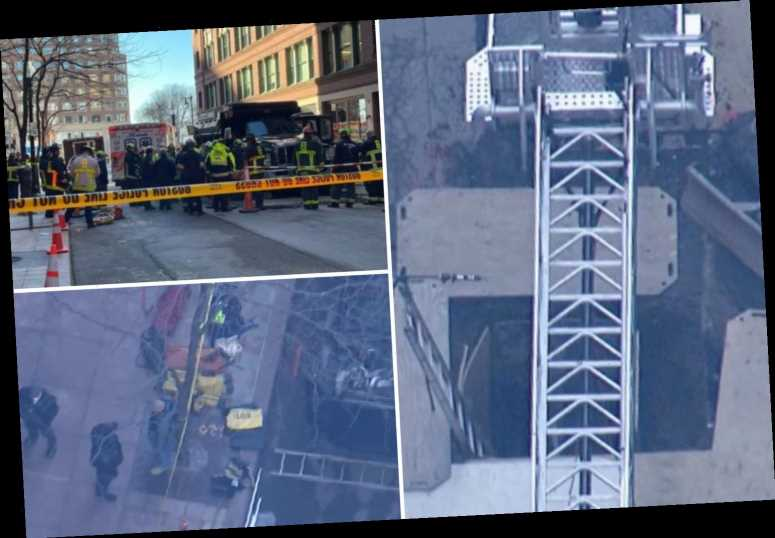 Boston construction accident: Two workers dead after being 'hit by dump truck and falling into work trench on site'