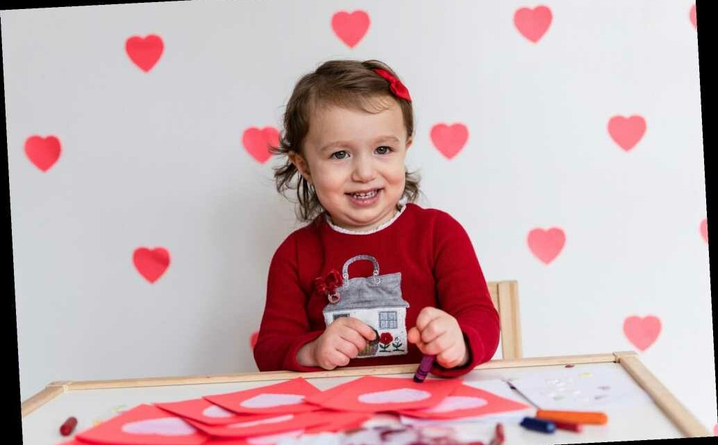 This toddler's art is warming the hearts of seniors on Valentine's Day