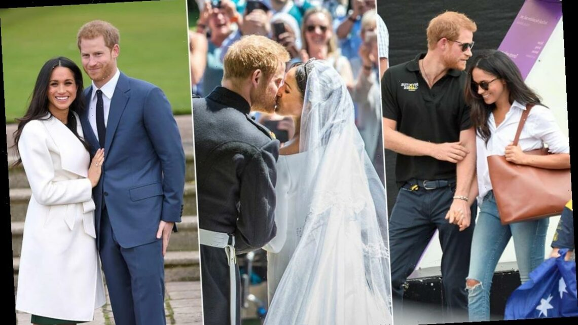 11 of Prince Harry and Meghan Markle's most romantic moments in public