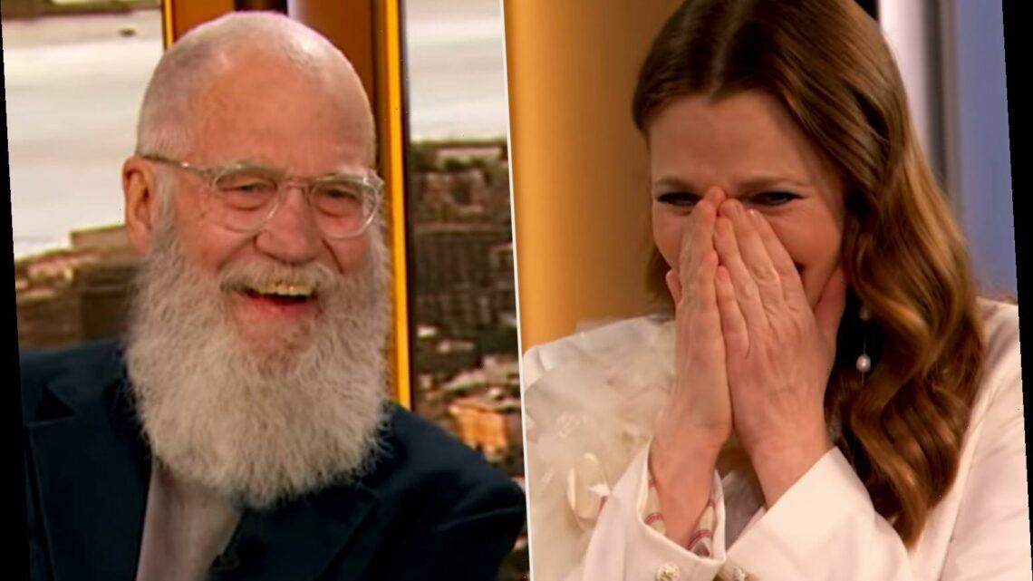 Drew Barrymore Breaks Down in Tears as David Letterman Surprises Her During Her Birthday Show
