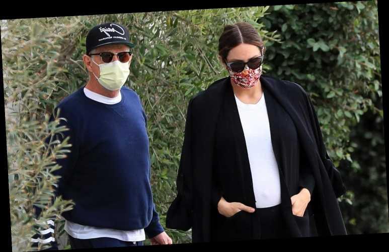 Pregnant Katharine McPhee Looks Sleek in Black & White During Errands Run with David Foster