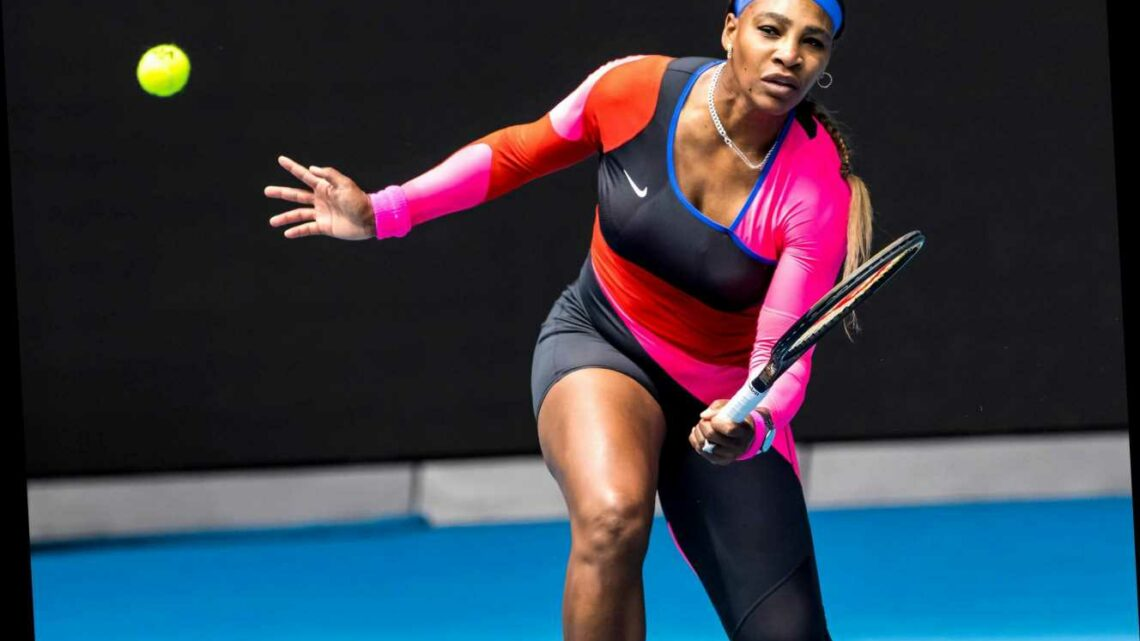Serena Williams' one-legged catsuit steals show at Australian Open