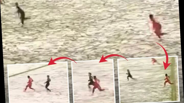 Watch Alphonso Davies hit staggering 22.1mph in gut-busting challenge during Bayern Munich's draw with Arminia
