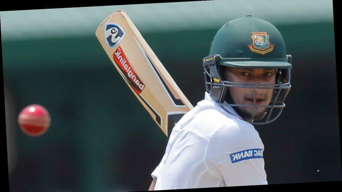 Shakib Al Hasan steadies Bangladesh on Test return as Tigers reach 242-5 against West Indies