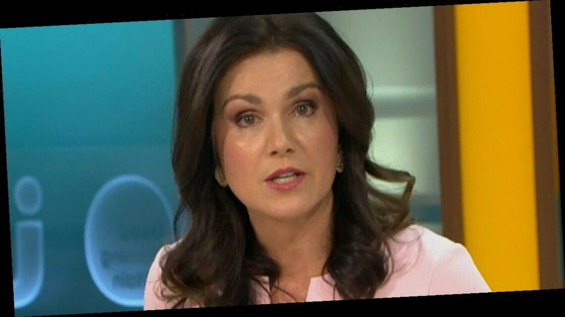 Susanna Reid seems tearful as she addresses Piers Morgan quitting Good Morning Britain live on air