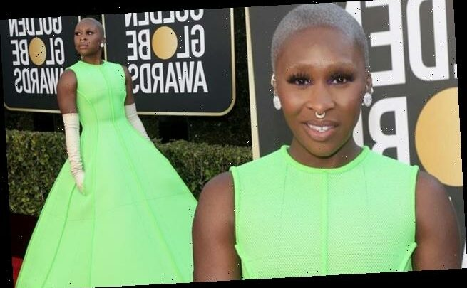 Golden Globes: Cynthia Erivo exudes glamour in green gown