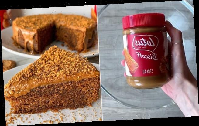 Three-ingredient recipe for Lotus Biscoff sponge breaks the internet