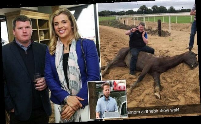 Was photo of a horse trainer leaked over a feud with a gangster?