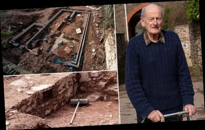 Downsizing pensioner uncovers remains of a long-lost palace in garden