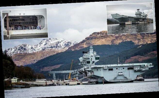 Royal Navy's warship HMS Queen Elizabeth returns to Scottish waters
