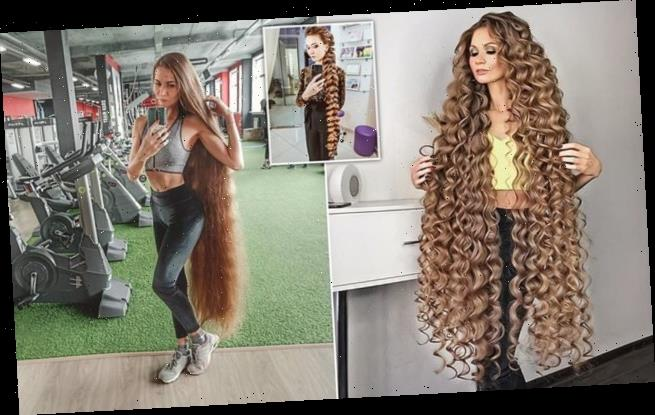 Real-life Rapunzel Daira Gubanova has hair measuring two metres