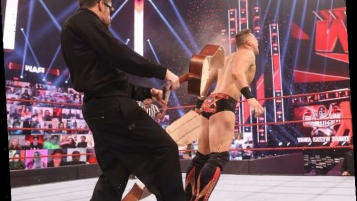 Bad Bunny smashes WWE star The Miz with guitar on RAW and accepts WrestleMania 37 'challenge' in huge grudge match