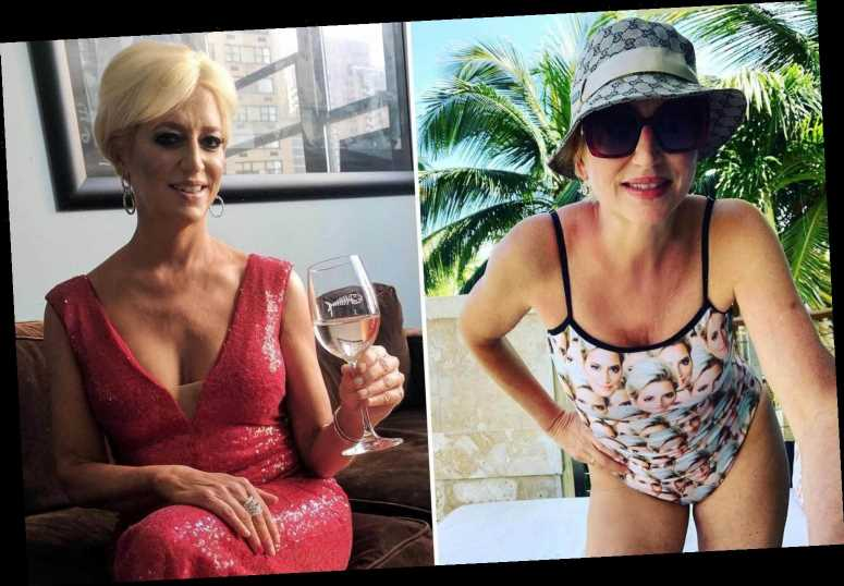 RHONY alum Dorinda Medley, 56, shows off her fit figure in swimsuit printed with her FACE after she was fired from show