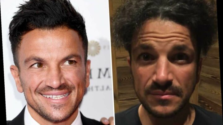 Peter Andre almost unrecognisable as he shows off unruly, frizzy hair and begs Boris Johnson to re-open barber shops