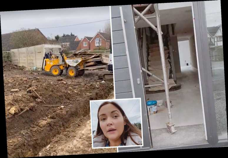 Jacqueline Jossa and Dan Osborne's £1m home transformation as they rip up old floorboards and bulldoze the garden
