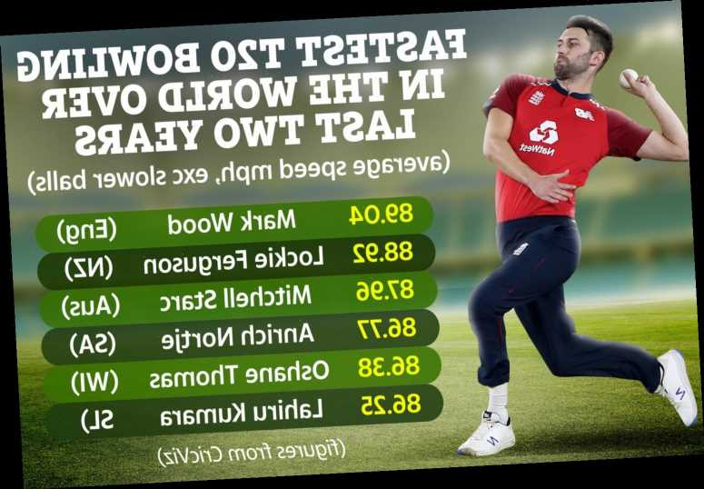 England pace ace Mark Wood is fastest T20 bowler in the world after sending down 96mph howitzer against India