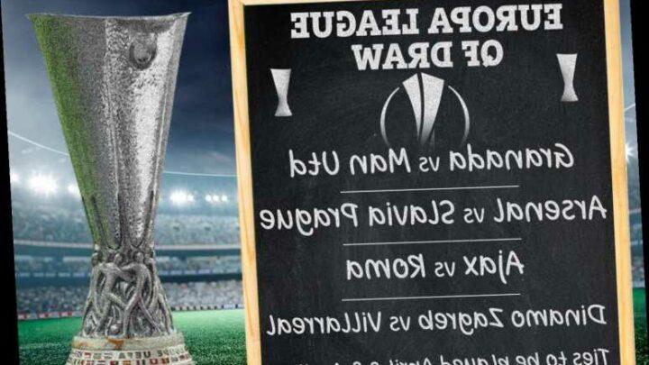 Man Utd land Granada in dream Europa League quarter-final draw with Arsenal facing Slavia Prague