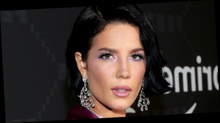 Halsey's New Punk Rock Look Has a Sweet Tribute to Her Future Baby: Pics