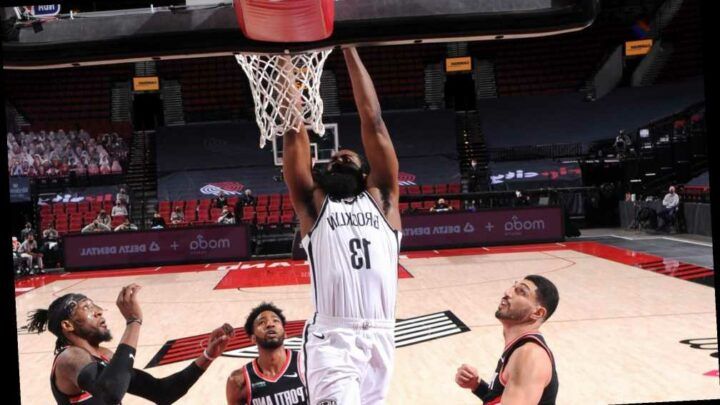 James Harden carries Nets to hard-fought win over Trail Blazers