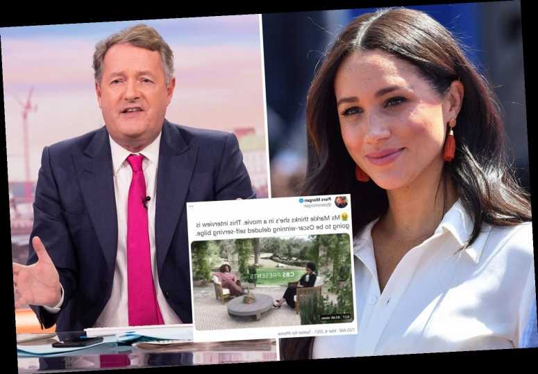 Piers Morgan blasts Meghan Markle 'who thinks she's in a movie' & slams Oprah interview as 'deluded self-serving bilge'