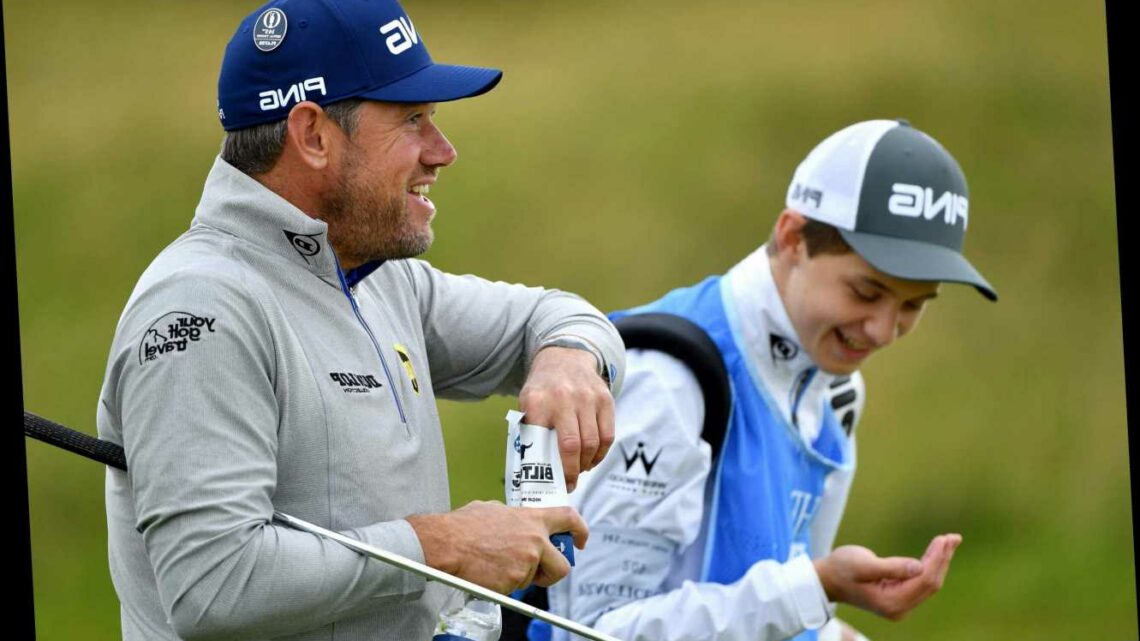 Lee Westwood's son Sam, 19, will caddie for him at 2021 Masters as fiancee Helen Storey steps aside at Augusta