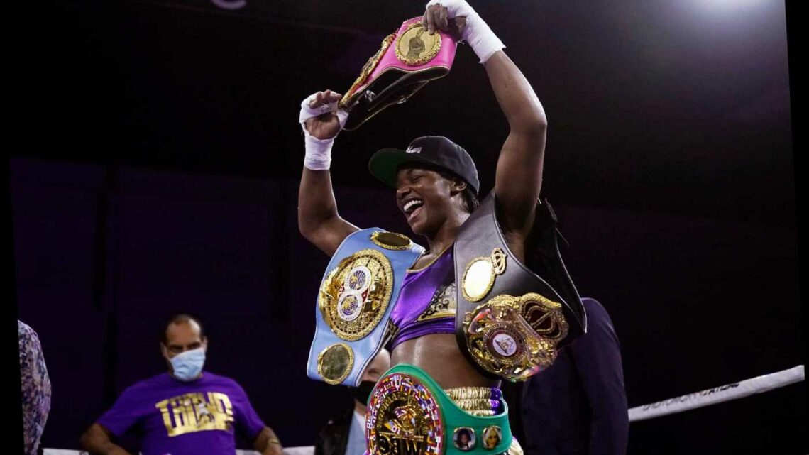 Claressa Shields makes history as first four-belt undisputed champion in two weights after dominating Marie-Eve Dicaire