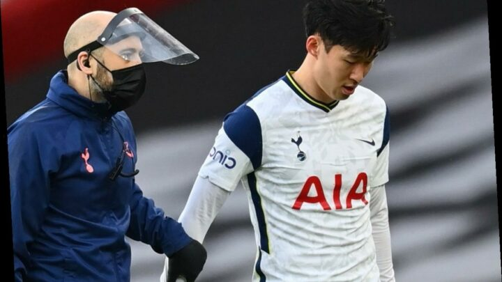 Tottenham suffer major injury blow as Son Heung-min limps off just 17 minutes into derby with Arsenal