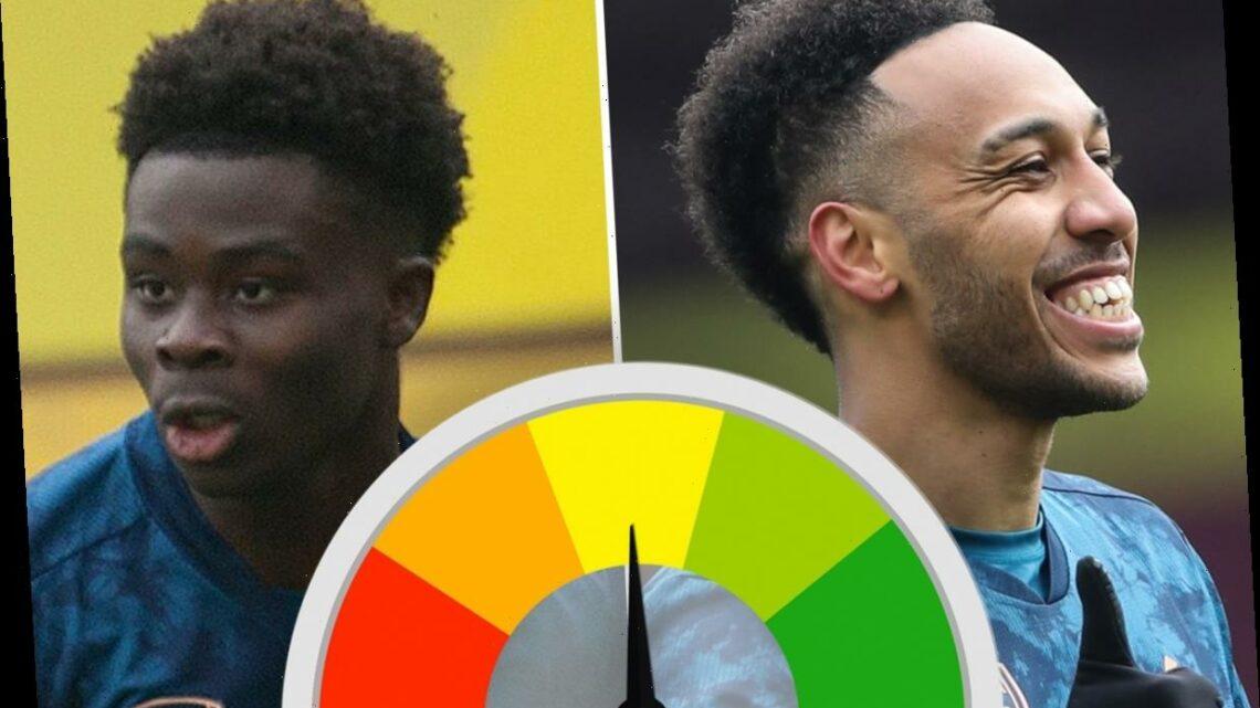 Arsenal ratings: Granit Xhaka has howler and Bukayo Saka below par while Tierney and Aubameyang impress at Burnley