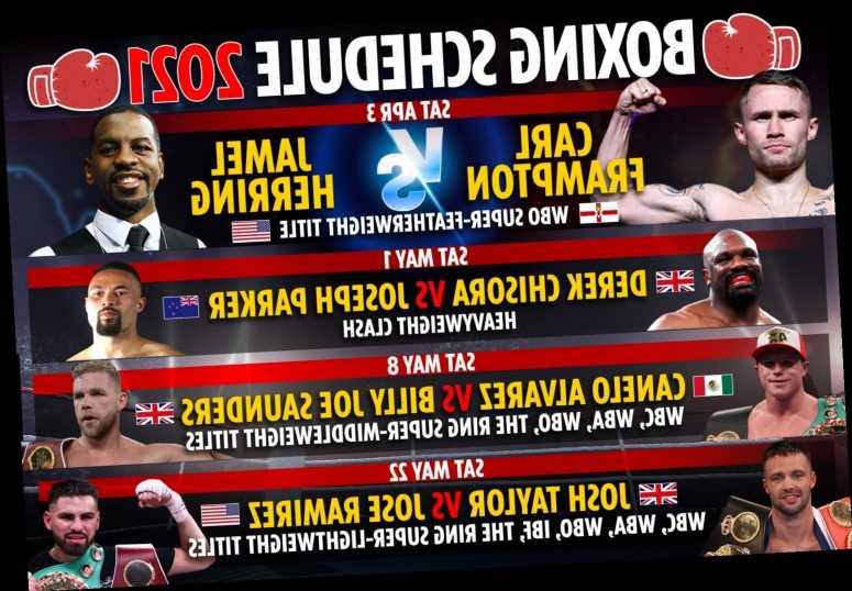 Boxing schedule 2021: EVERY upcoming fight including Joshua vs Fury, Jake Paul, Canelo vs Saunders & Taylor vs Ramirez